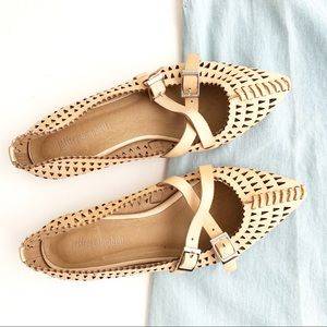 Jeffrey Campbell Nude padme cut-out leather flats